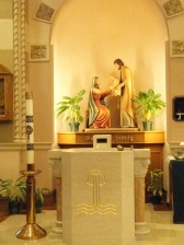 Holy Family and Baptism Altar
