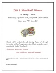 Ziti & Meatball Dinner Announcement