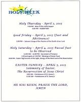 Holy Week-2015